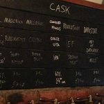Cask beers on tap