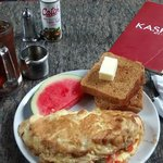 Farm Fresh Omelette with iced tea