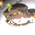Choco cake with ginger
