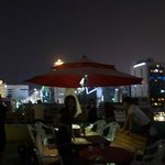 myeongdong town guesthouse roof top bbq party