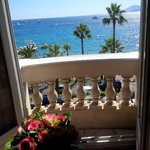 View from my room in the Carlton - Cannes