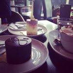 Dessert and hot chocolate