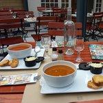 Zuppe di pesce e di legumi