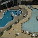 SPA outside pool