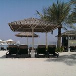The private beach