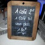 Petite touche d'humour sur les tables