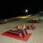The Dinner on the beach, every Sunday night