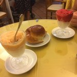 Granita lemon&peach lemon&raspberry