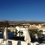 Whire Mountains from roof terrace