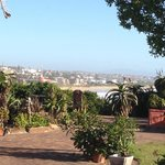 Uitzicht op Jeffrey's bay vanaf het terras.