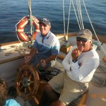 I am at the helm of the Schooner