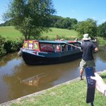 Trip on a narrow boat on the kennet and Avon canal