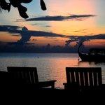 tramonto visto dal bar