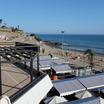Shopping Center Meloneras Playa, with Ciao Ciao below in the distance.