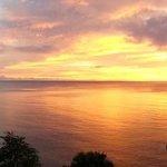 Windjammer sunset from Villa 2 terrace
