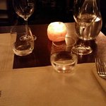 tavolo al lume di candela
