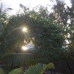 Coucher de soleil depuis la chambre face à l'océan