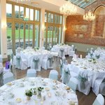Conservatory set up for wedding breakfast