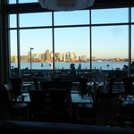 Restaurant, terrace and view at Hyatt Boston Harbor