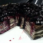 Black and White crepe cake