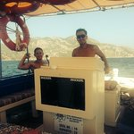 Boat trip with Serhat and Bayram
