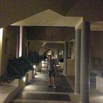 Walkway to rooms/suites