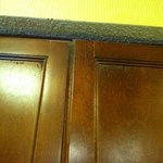 Mold on the cabinets, walls, & ceilings