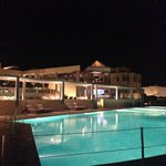 Pool at night - closes at 8pm :(