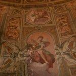 Breakfast Room ceiling original painting.