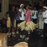 The staff at Muchenje entertaining us before dinner