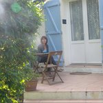 terrasse de la chambre Bleuet