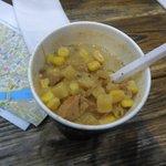 ma soupe poulet+mais caramélisée