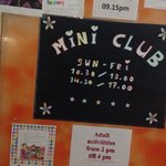 Mini club 3-10 yrs