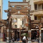 the souk, only 4 min walk from hotel, say la shukran to street sellers and get in here