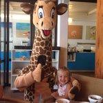 Gerry the giraffe - mini club mascot