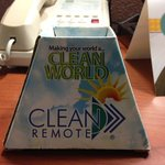 Clean remote?? It was no where to be found! What a joke.