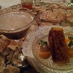 Chocolate martini and Gran Marnier cheesecake with creme brulee crust