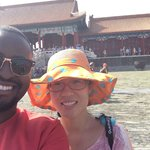 Selfies with Violet at the Forbidden City