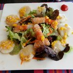 Salade de saint jacques et langoustines, un vrai délice