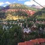 View of the town of Telluride from the gondola
