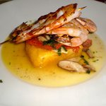 Deconstructed Shrimp & Scallop Grits, City Kitchen, Beaufort NC