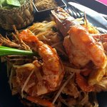 Wonderfull Pad thai Tiger prawn at Sabai Ba Bar Beach Front Restaurant....come to join us ?? :)