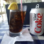 Funny glasses and ice cold coke