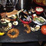 Seafood platter - after I'd started devouring it! This really doesn't do it the justice it deser