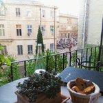 vue de notre table en terrasse