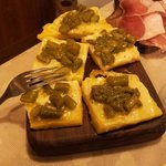 polenta con provola e asparagi
