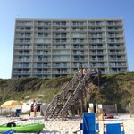 Beach view of BeachCrest units