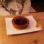 Crème brulée flambée à la Chartreuse