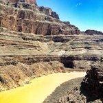Views upward to the Grand Canyon