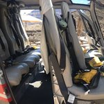 Inside the Helicopter, comfortable seating, plenty of room